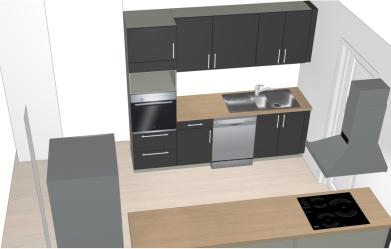 Plan 3D Cuisine Maisons Pierre UMHS à 1€